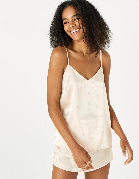 Spot Jacquard Pyjama Set Nude, Nude (NUDE), large