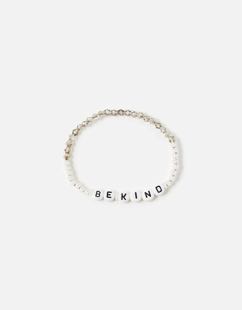 Be Kind Stretch Bracelet , Silver (SILVER), large