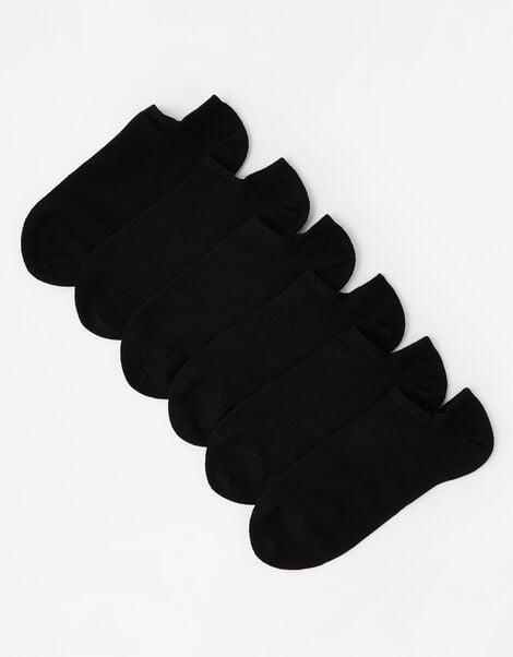 Super-Soft Bamboo Trainer Sock Multipack Black, Black (BLACK), large