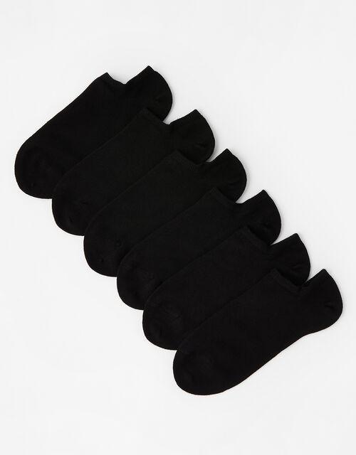 Super-Soft Bamboo Trainer Sock Multipack, Black (BLACK), large