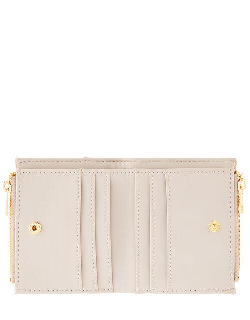 Bella Double Zip Wallet, Nude (NUDE), large