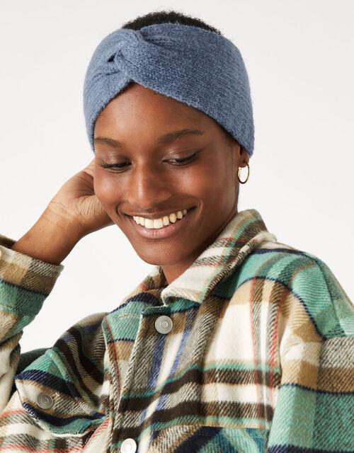 Knit Bando Headband, Blue (BLUE), large