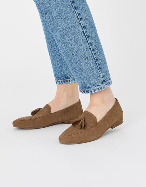 Suede Loafers Tan, Tan (TAN), large