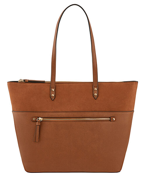 Molly Tote Bag, Tan (TAN), large
