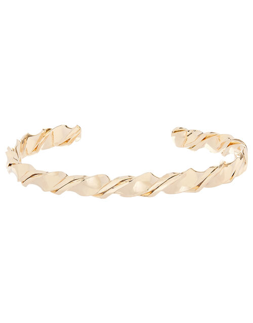 Skinny Twisted Cuff Bracelet, , large