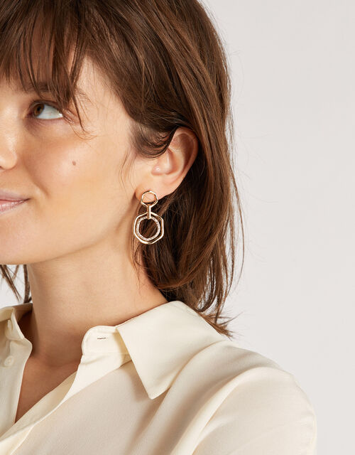 Pave Short Drop Earrings, , large