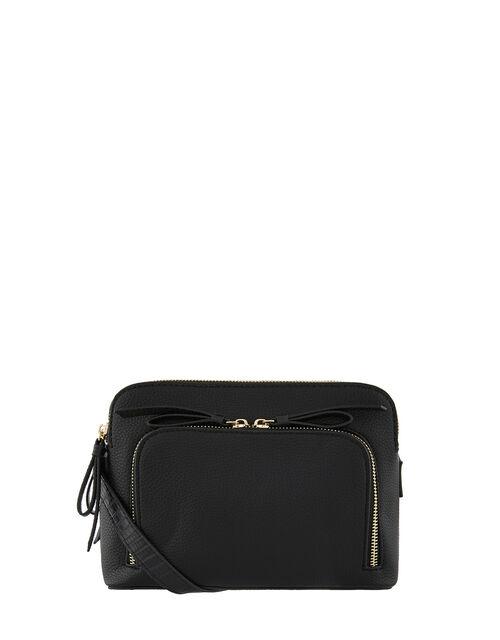 Taylor Vegan Cross Body Bag, Black (BLACK), large