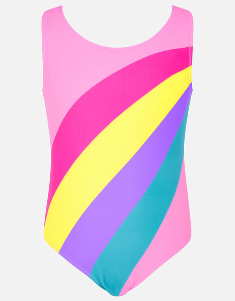 Rainbow Stripe Swimsuit Multi, Multi (BRIGHTS-MULTI), large