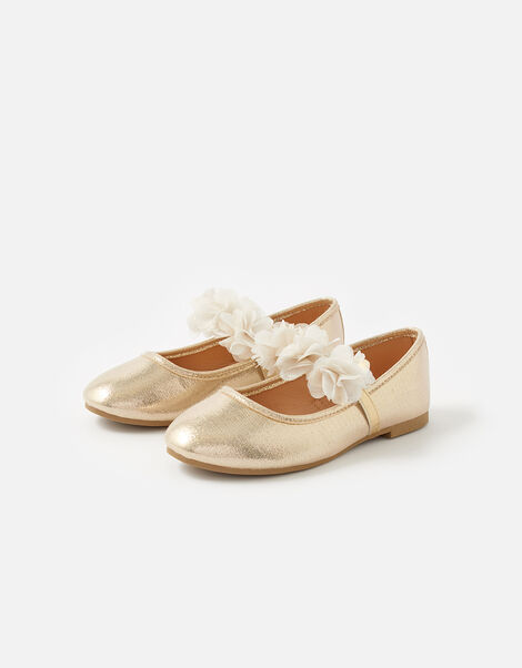 Corsage Ballerina Flats  Gold, Gold (GOLD), large