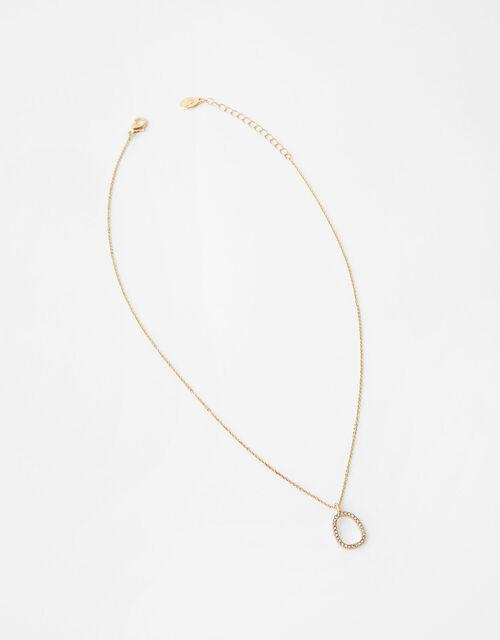 Pave Organic Pendant Necklace, , large