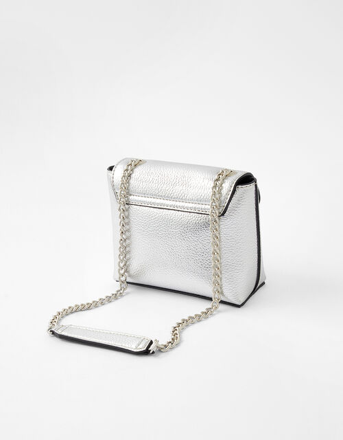 Mini Metallic Bag, Silver (SILVER), large