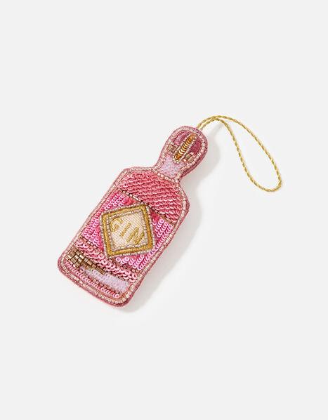 Embellished Pink Gin Bottle, , large