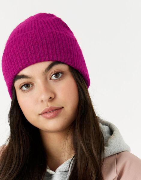 Soho Knit Beanie Hat Pink, Pink (FUCHSIA), large