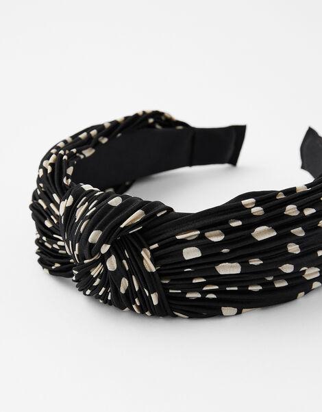 Pleated Spot Knot Headband, , large