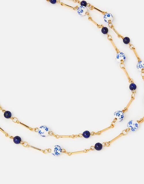 Country Retreat Beaded Station Multirow Necklace , , large