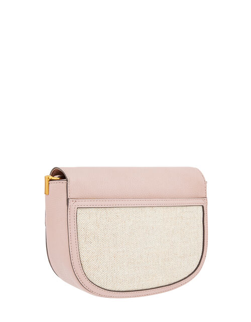 Linen Panel Cross-Body Bag, Nude (NUDE), large