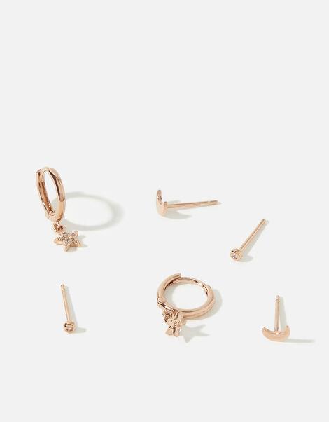 Rose-Gold Plated Celestial Earring Multipack, , large