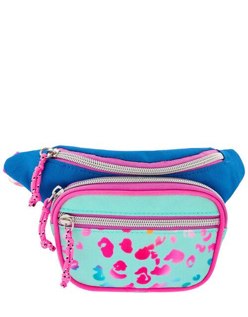 Leopard Print Colourful Belt Bag, , large