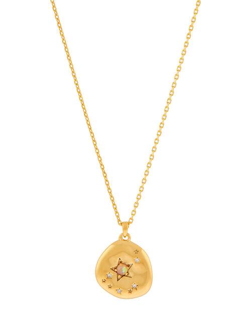 Gold-Plated Opal Zodiac Necklace - Capricorn, , large