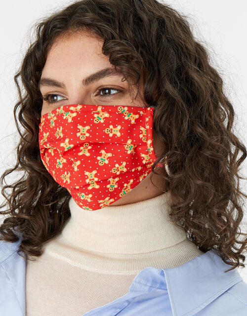Christmas Gingerbread Face Covering, , large