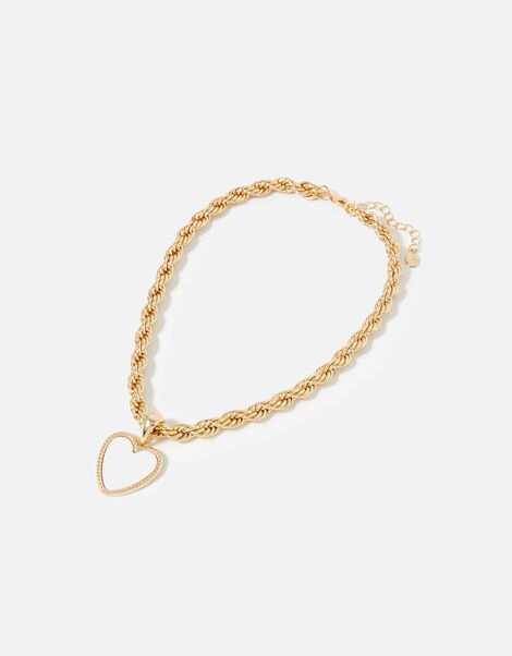 Feel Good Heart Chain Necklace, , large