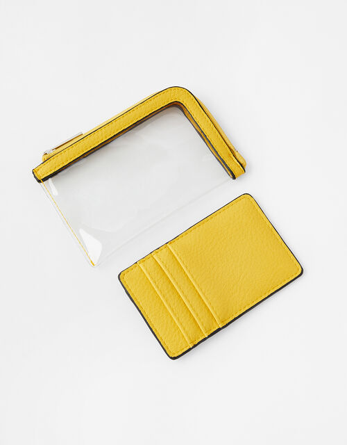 Clear Card Holder, Yellow (YELLOW), large