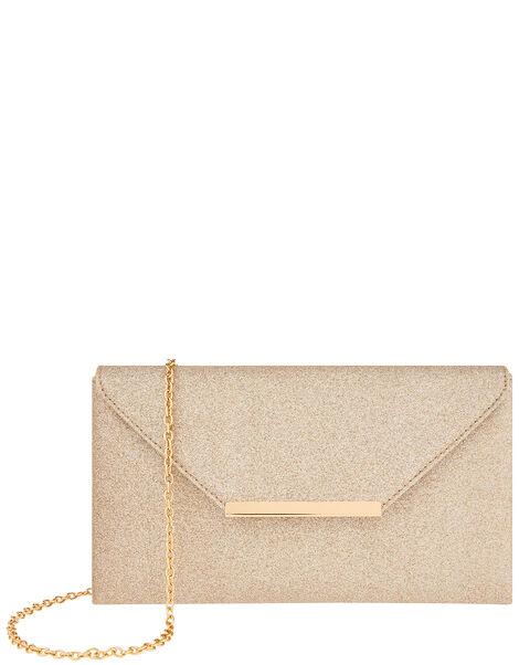 Glitter Clutch Bag Gold, Gold (GOLD), large