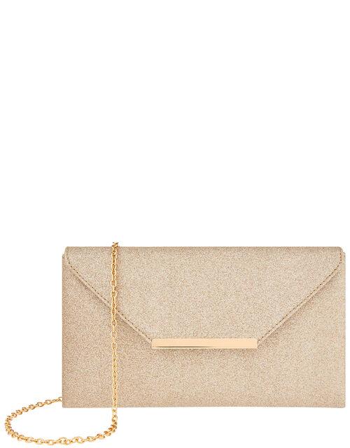 Glitter Clutch Bag, Gold (GOLD), large