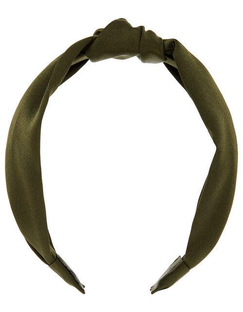 Wide Satin Knot Headband, , large