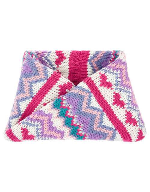 Heart Fairisle Knit Snood, , large