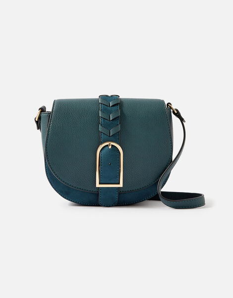 Shania Suedette Cross-Body Bag  Teal, Teal (TEAL), large