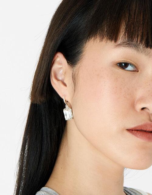 Berry Blush Rectangular Drop Earrings, , large
