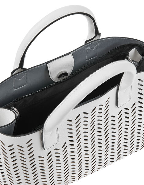 Cut-Out Handheld Bag White, White (WHITE), large
