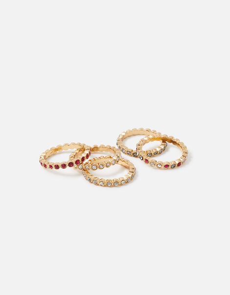 Berry Blush Bezel Eternity Ring Set Red, Red (BERRY), large