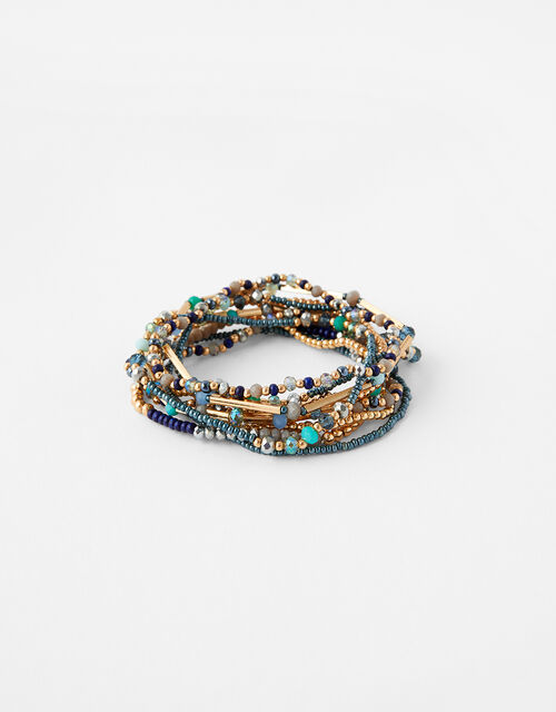 Kerala Beaded Stretch Bracelet Set, , large