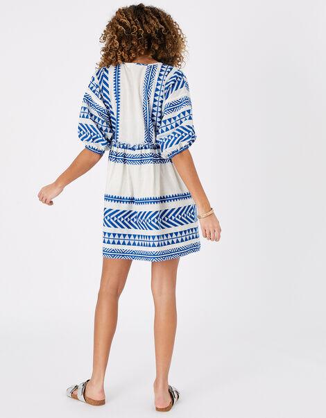 Jacquard Dress Blue, Blue (BLUE), large