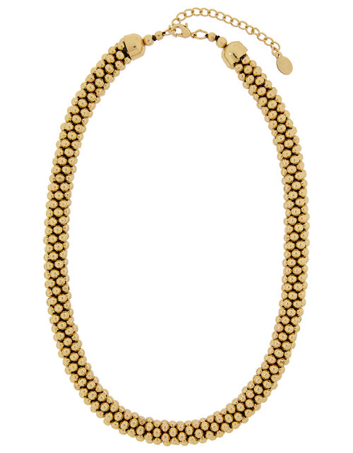 Bobble Necklace and Bracelet Set, Gold (GOLD), large