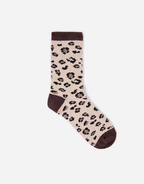 Leopard Thermal Socks, , large