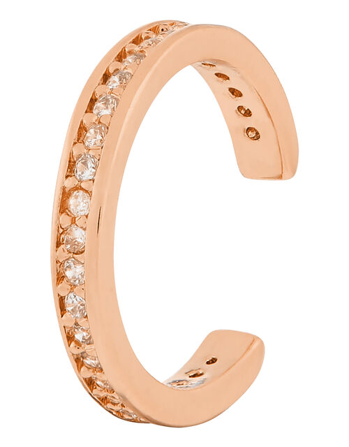 Rose Gold-Plated Pave Ear Cuff, , large