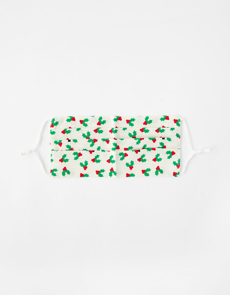 Christmas Holly Face Covering, , large