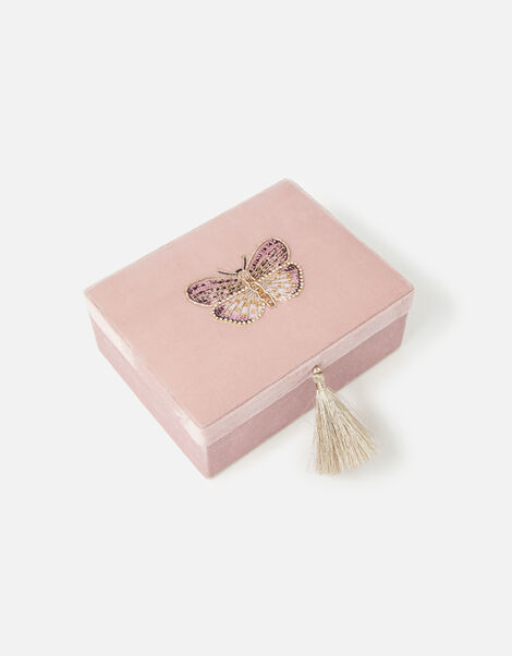 Embroidered Butterfly Jewellery Box, , large