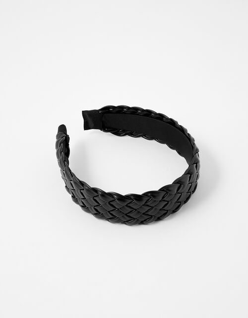 Woven PU Wide Headband, , large
