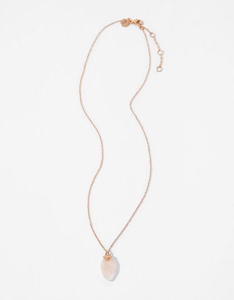 Healing Stones Pendant Necklace - Rose Quartz, , large