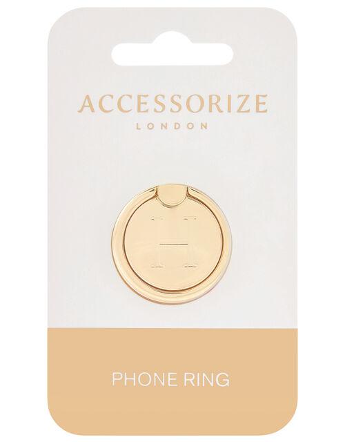 Metallic Initial Phone Ring - H, , large