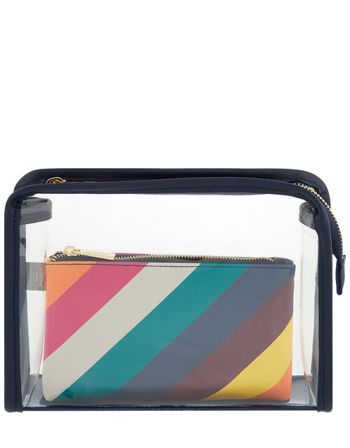 Rainbow and Clear Pouch Bag Set, , large