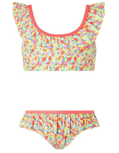Colourful Geo Print Bikini Set, Multi (BRIGHTS-MULTI), large