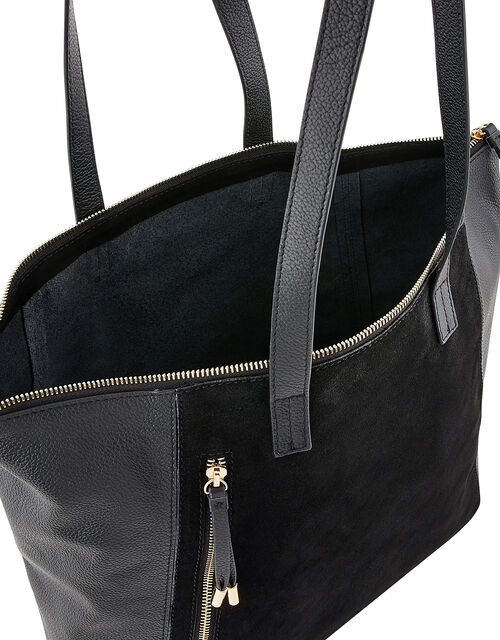 Phoebe Leather and Suede Shopper Bag, , large