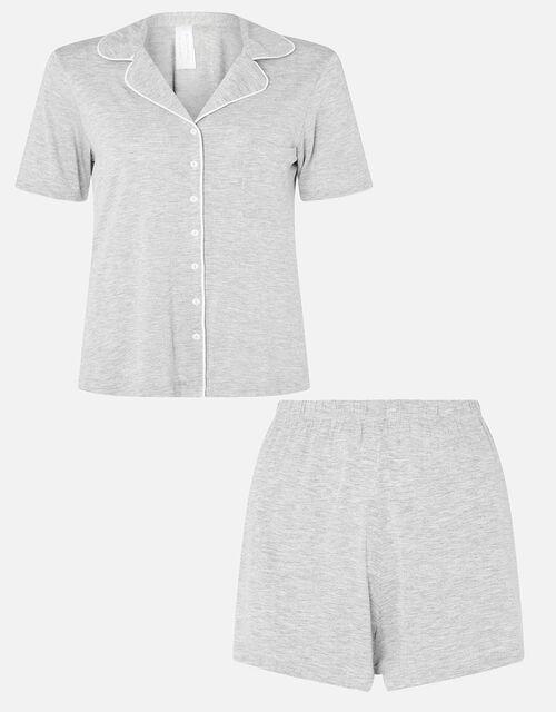 Jersey Shirt and Shorts Pyjama Set, Grey (GREY), large