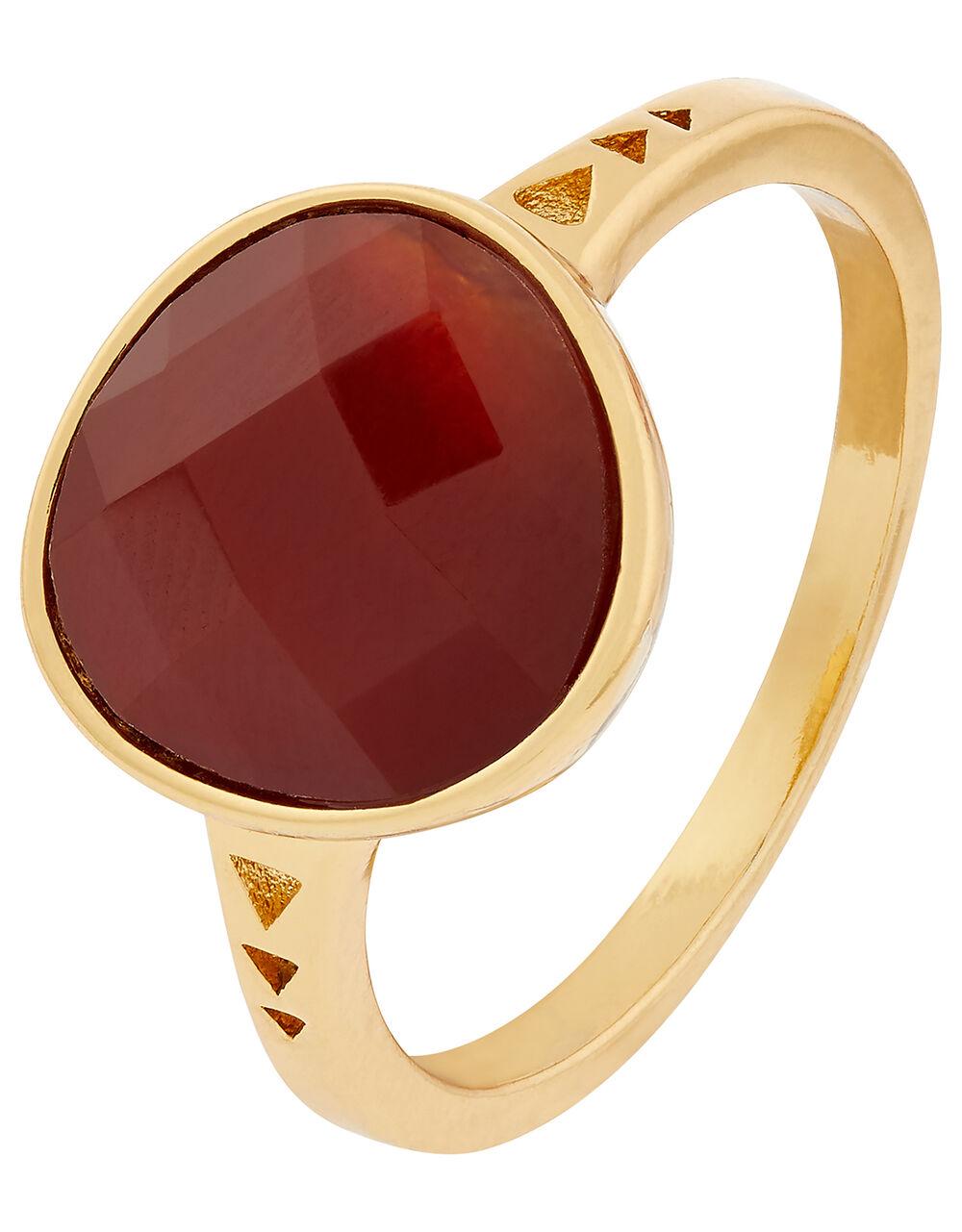 Healing Stones Carnelian Ring, Orange (ORANGE), large