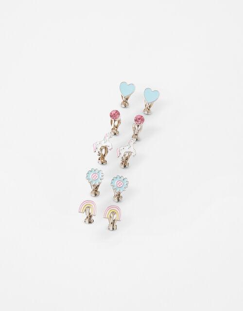 Unicorn Clip-On Earring Set, , large